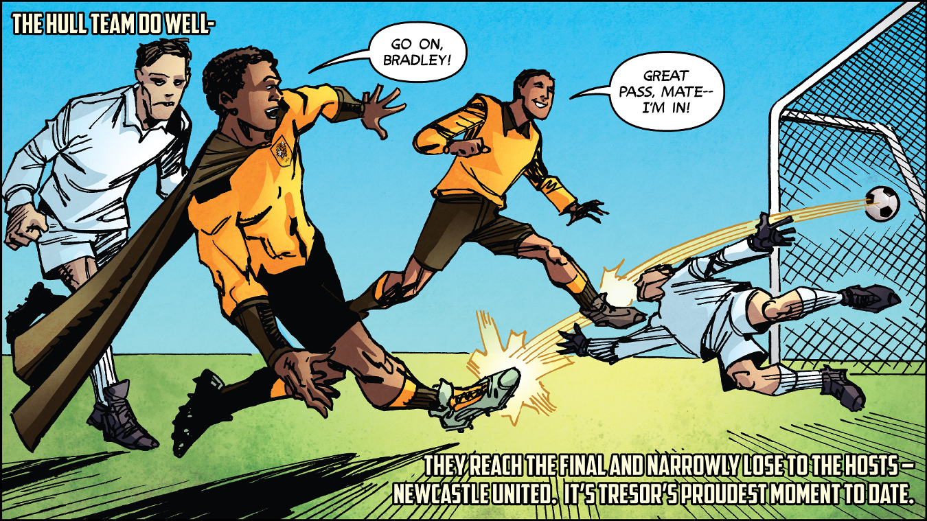 Premier League Kicks Hero, Tresor Kalilwa, Hull City, 230117, comic strip