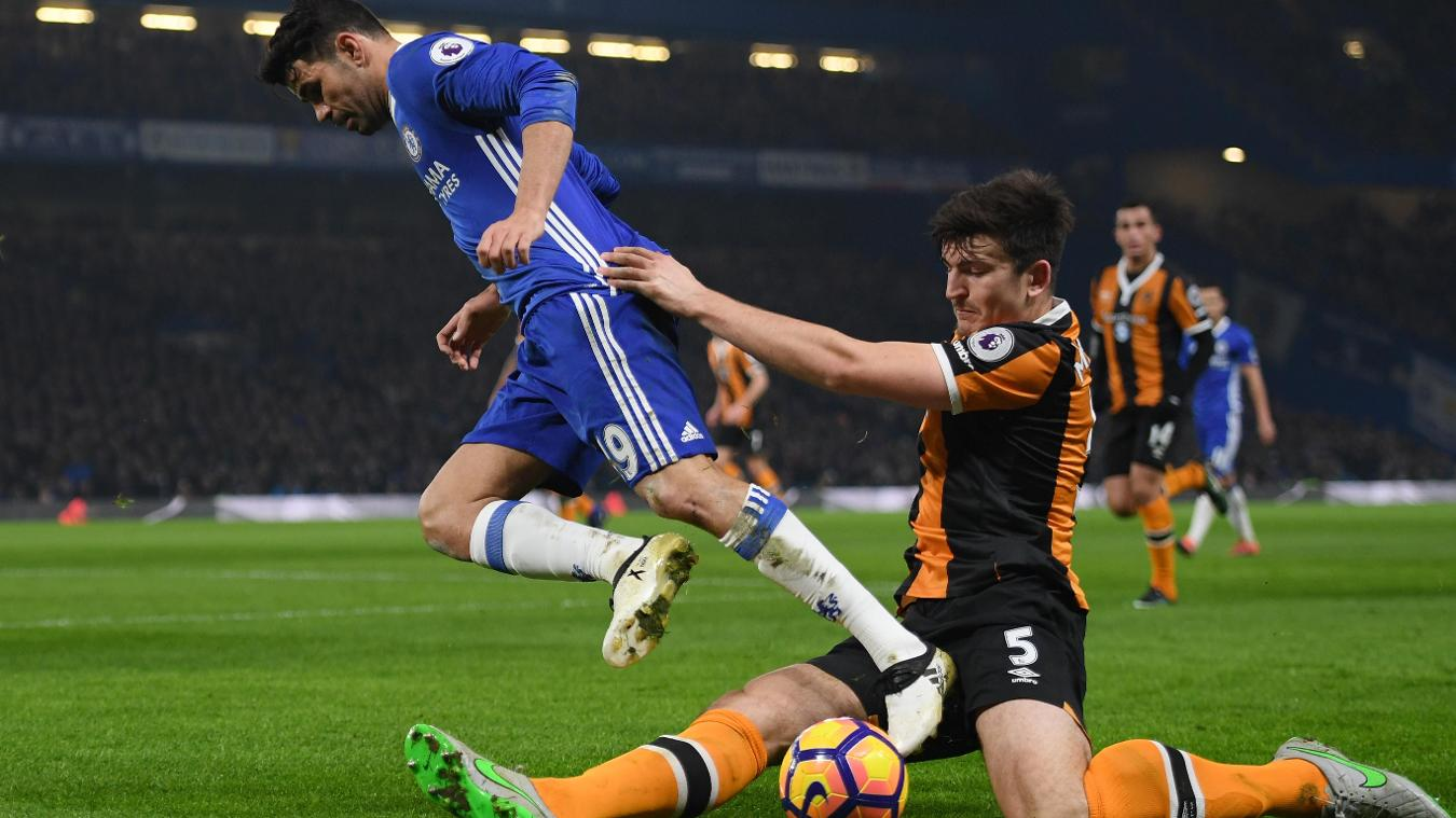 Diego Costa, Chelsea, and Harry Maguire, Hull