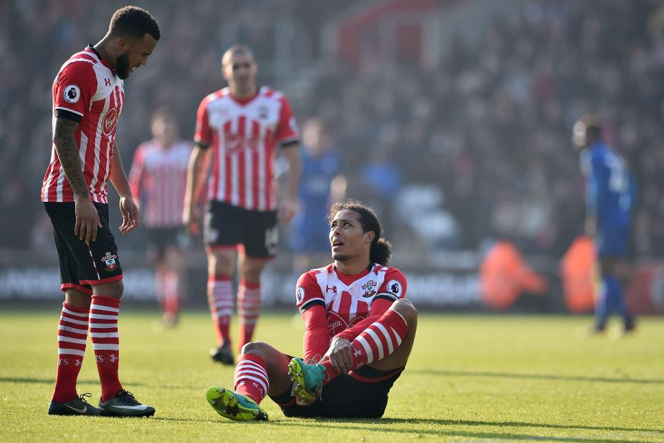Virgil van Dijk injured, Southampton