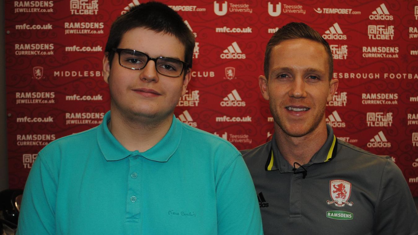 Tyler and Middlesbrough's Adam Forshaw