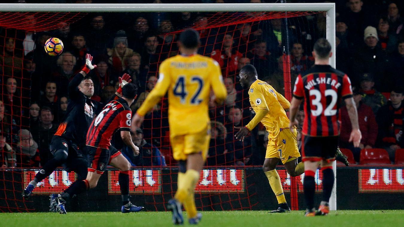 A photo of AFC Bournemouth conceding to a Christian Benteke header