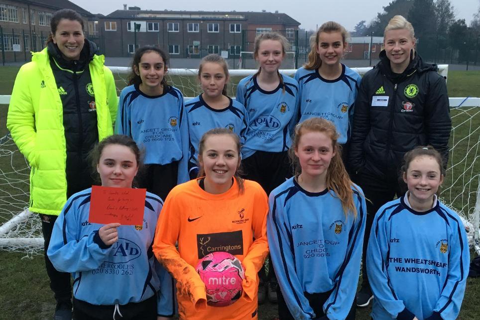 Chelsea PL Girls Football tournament, Niamh Fahey, Beth England, January 2017