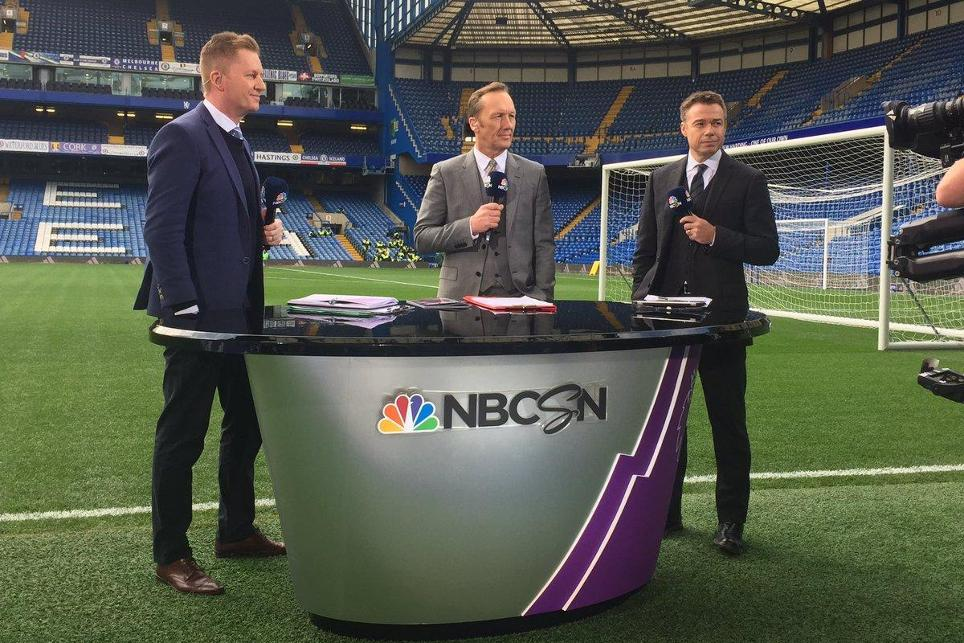 NBC Sports' Arlo White, Lee DIxon and Graeme Le Saux