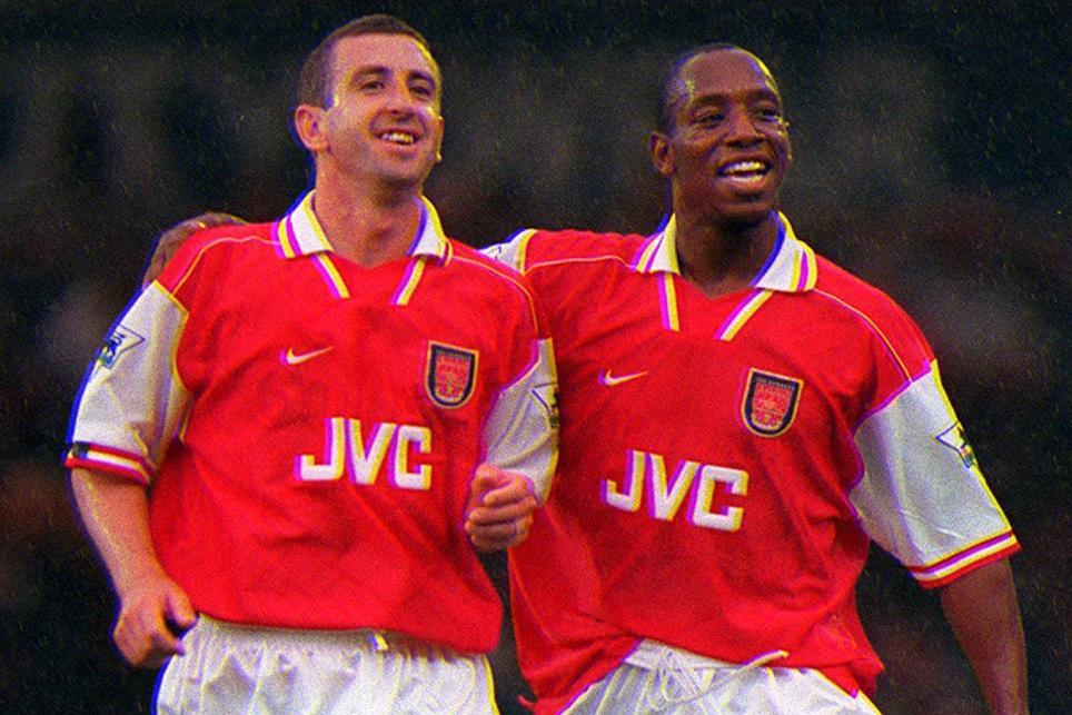 Nigel Winterburn and Ian Wright, Arsenal