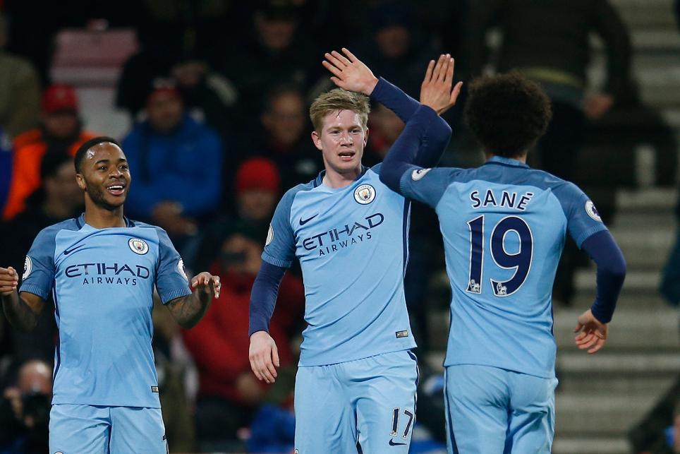Raheem Sterling, Kevin De Bruyne, Leroy Sane, Manchester City