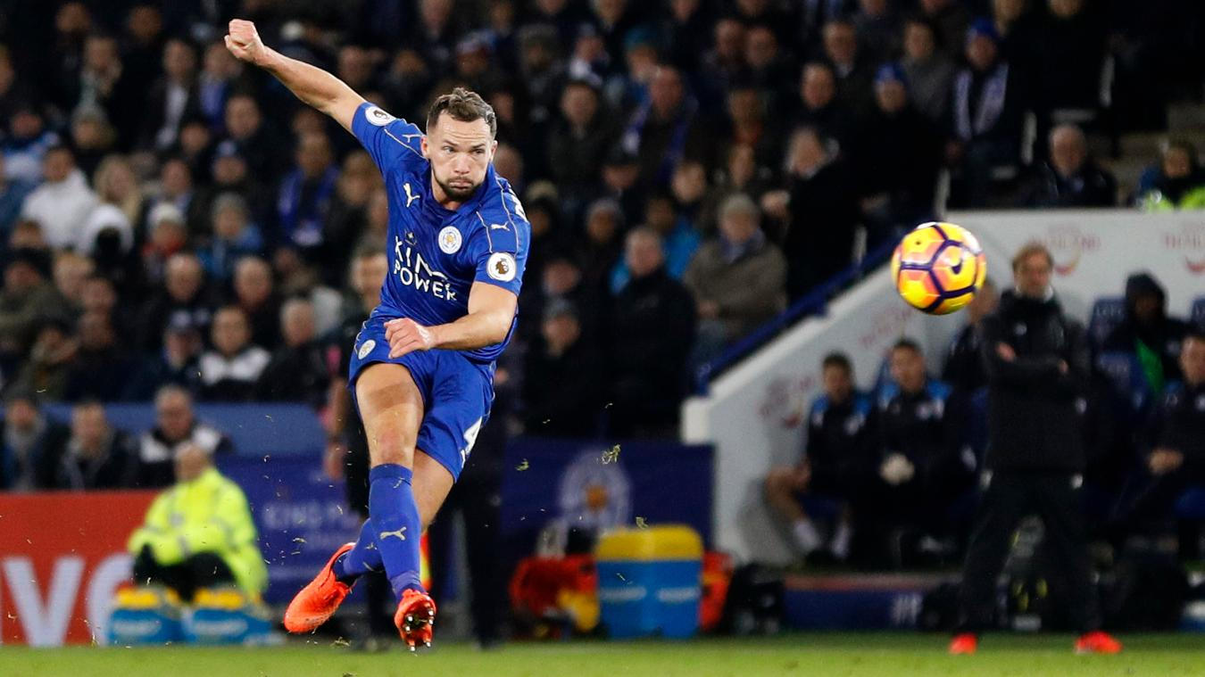 Danny Drinkwater scores second goal for Leicester City vs Liverpool