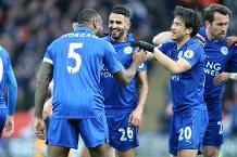 Leicester City v Hull City, Riyah Mahrez celebrates