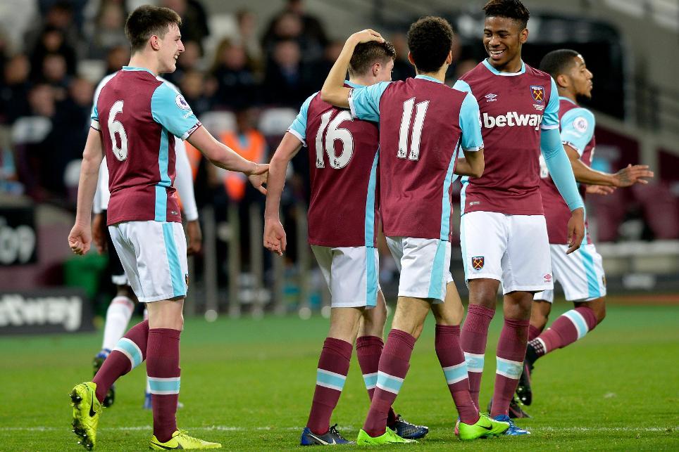 West Ham's PL2 team celebrate