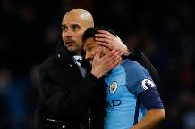 Pep Guardiola and Gael Clichy, Manchester City