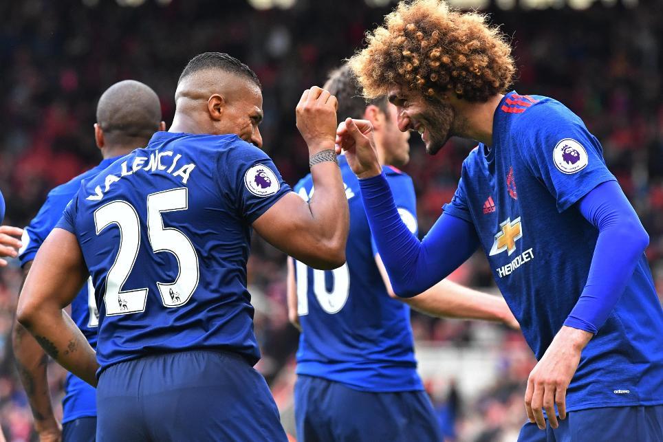 Manchester United's Antonio Valencia