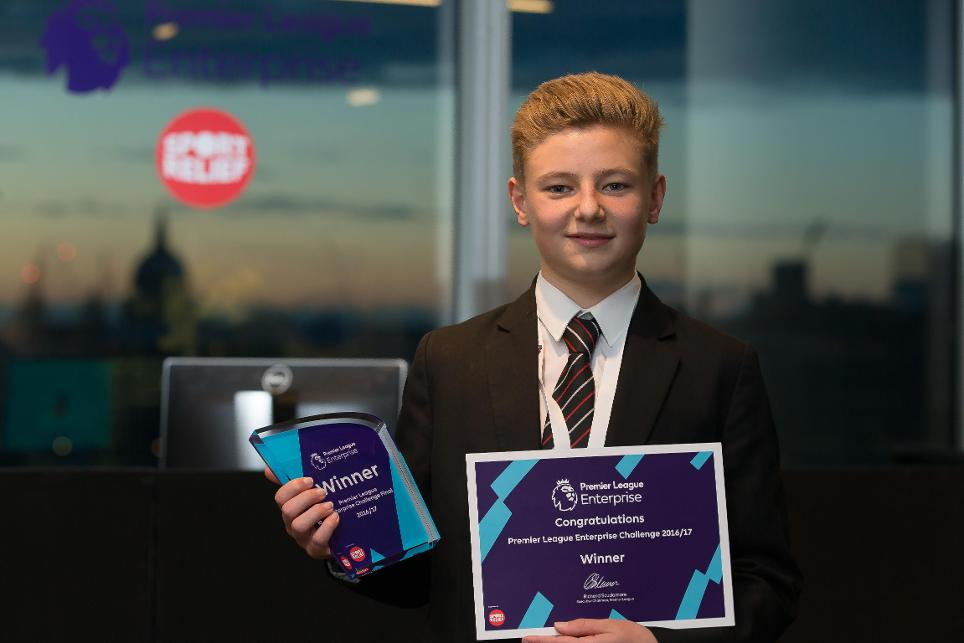 Pingle School. student Kyle, Premier League Enterprise Challenge