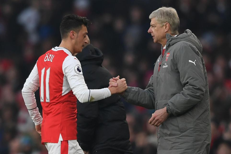 Mesut Ozil and Arsene Wenger, Arsenal
