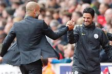 Pep Guardiola and Mikel Arteta, Manchester City