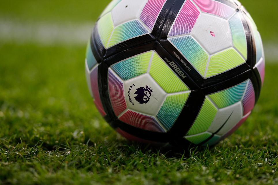 General view of a match ball before the game