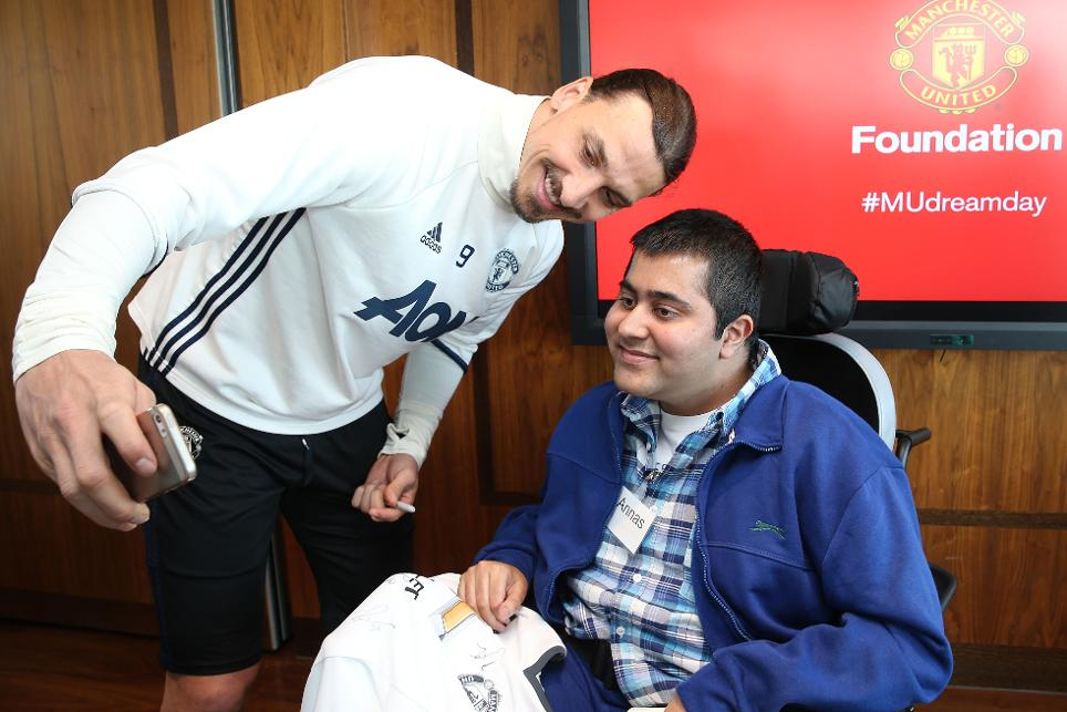 Zlatan Ibrahimovic, MU Foundation Dream Day