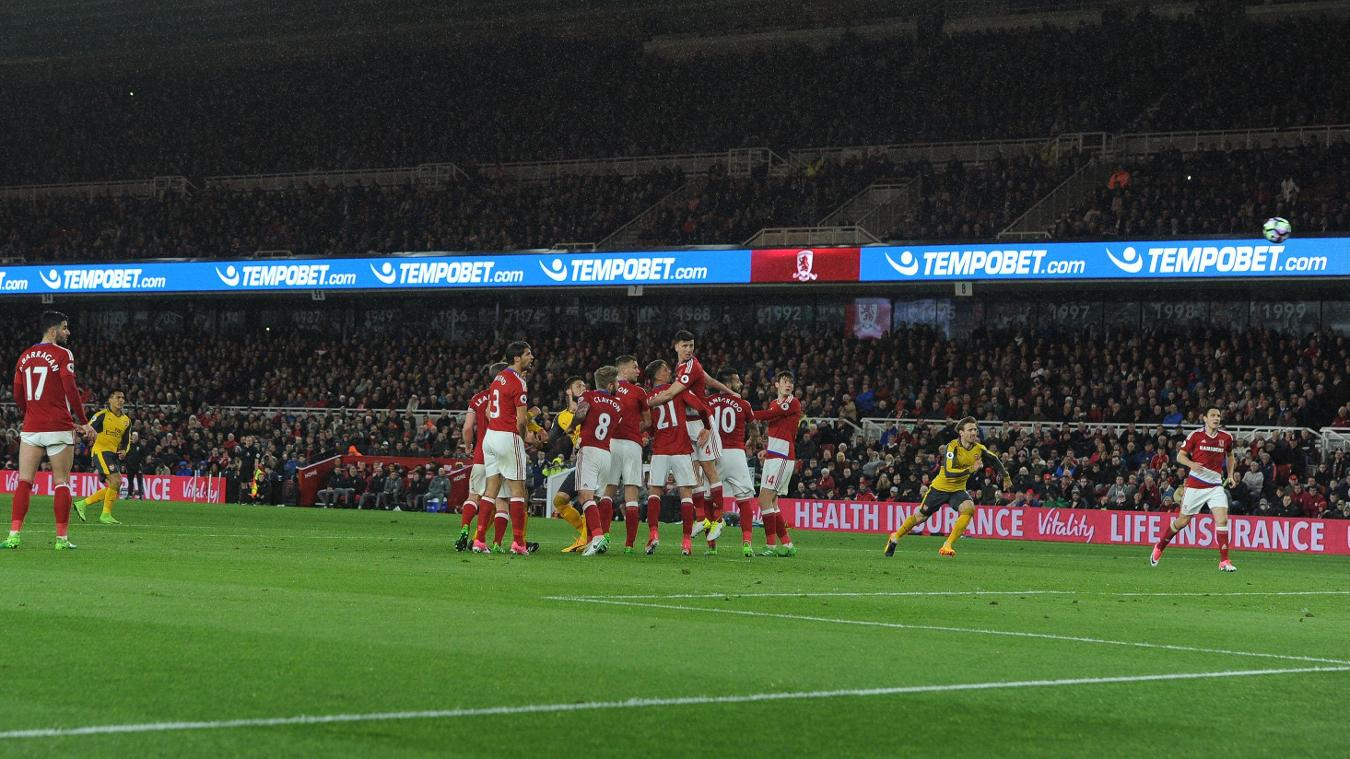 Middlesbrough 1-2 Arsenal