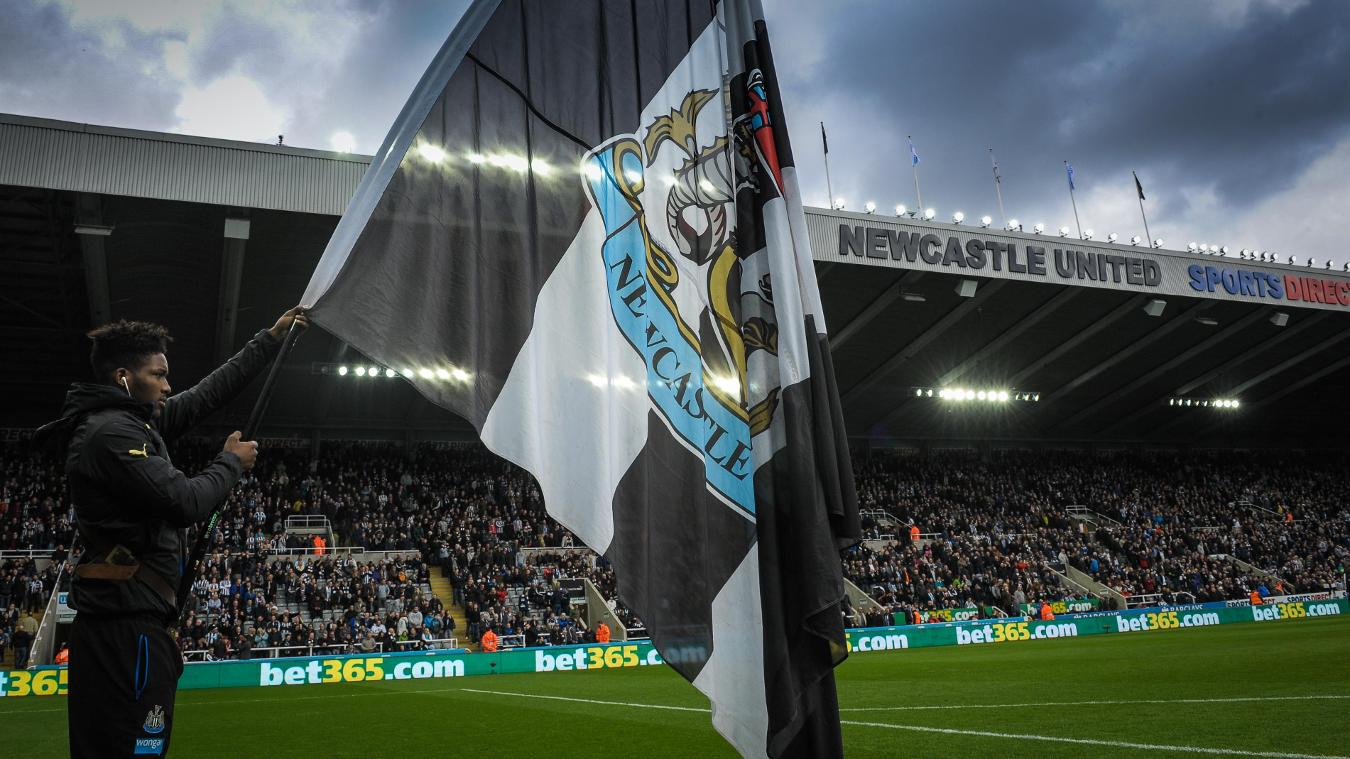 Newcastle United flagbearer