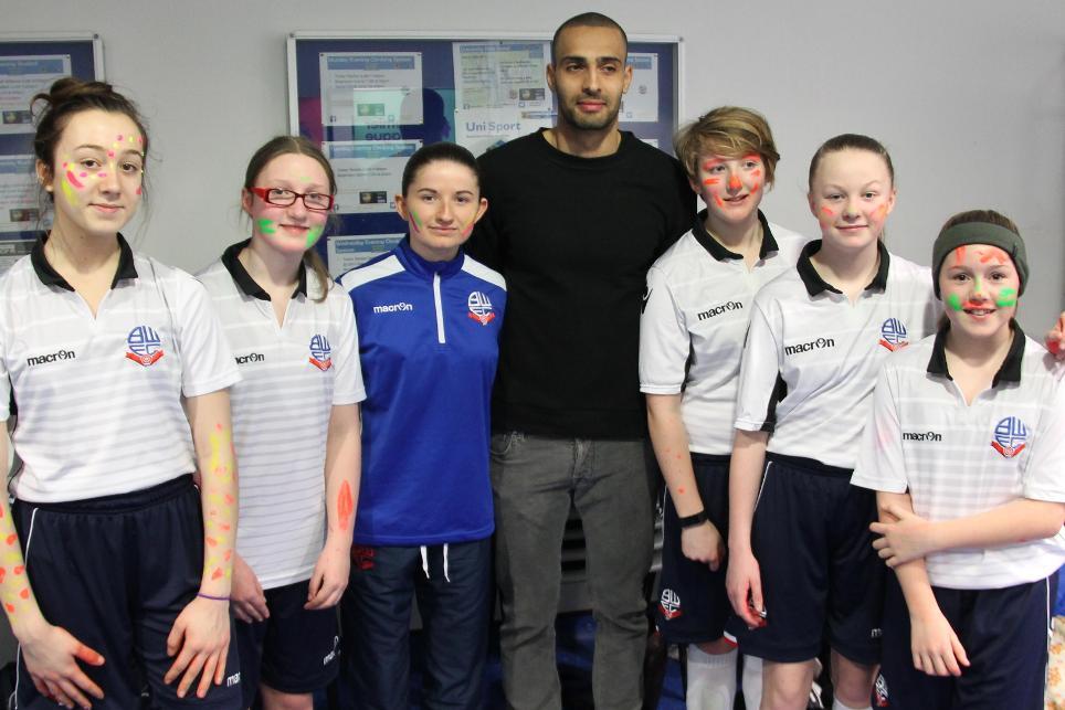 Bolton Wanderers captain Darren Pratley, UV PL Girls Football tournament