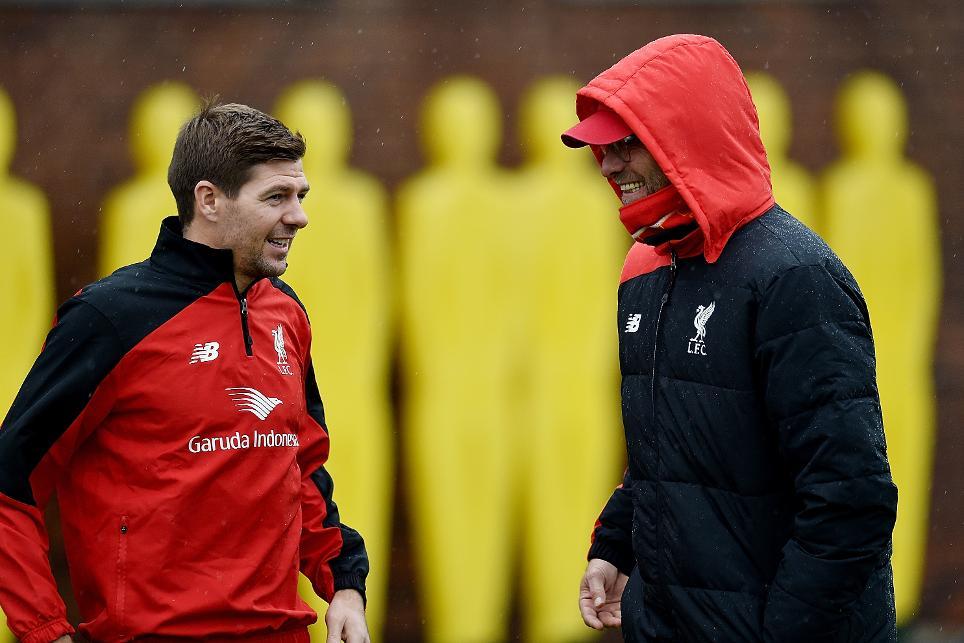 Steven Gerrard and Jurgen Klopp, Liverpool