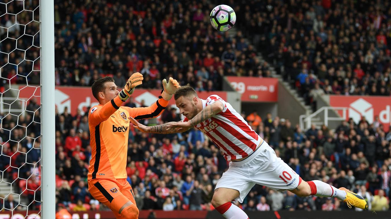 Stoke City v West Ham United Marko Arnautovic