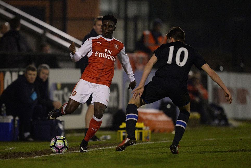 Arsenal U18s in action against Blackburn U18s