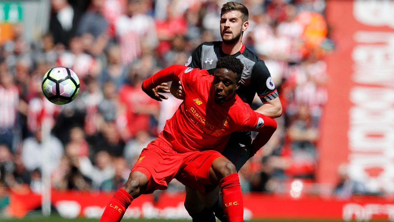 Liverpool's Divock Origi and Southampton's Jack Stephens