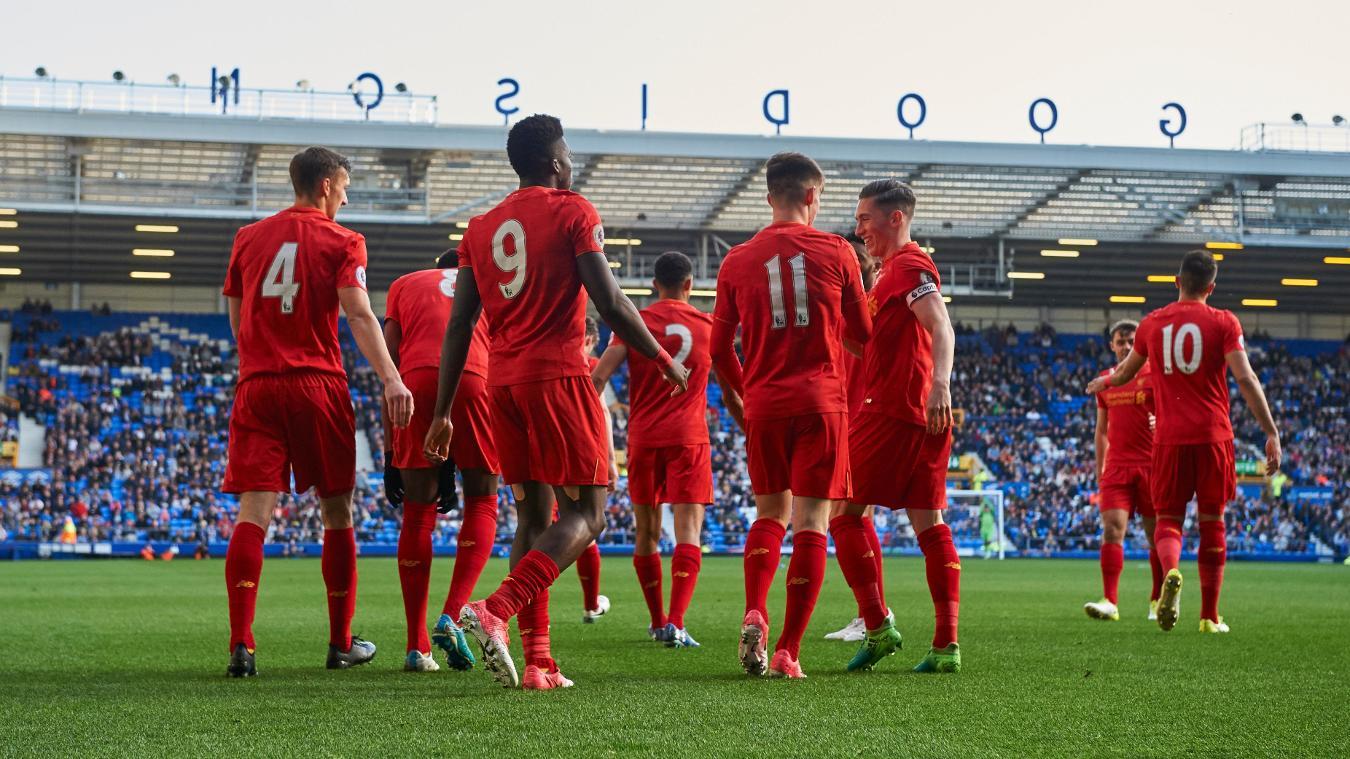 Everton lift Premier League 2 Division 1 trophy