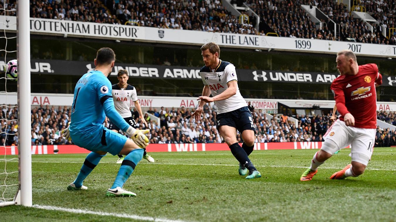 Wayne Rooney goal, Tottenham Hotspur v Manchester United