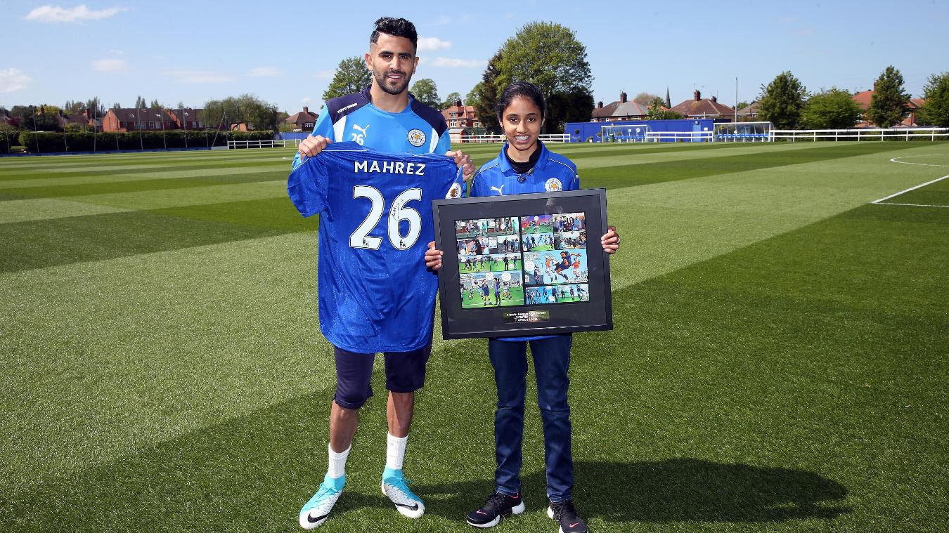 Marriam meets Leicester City midfielder Riyad Mahrez