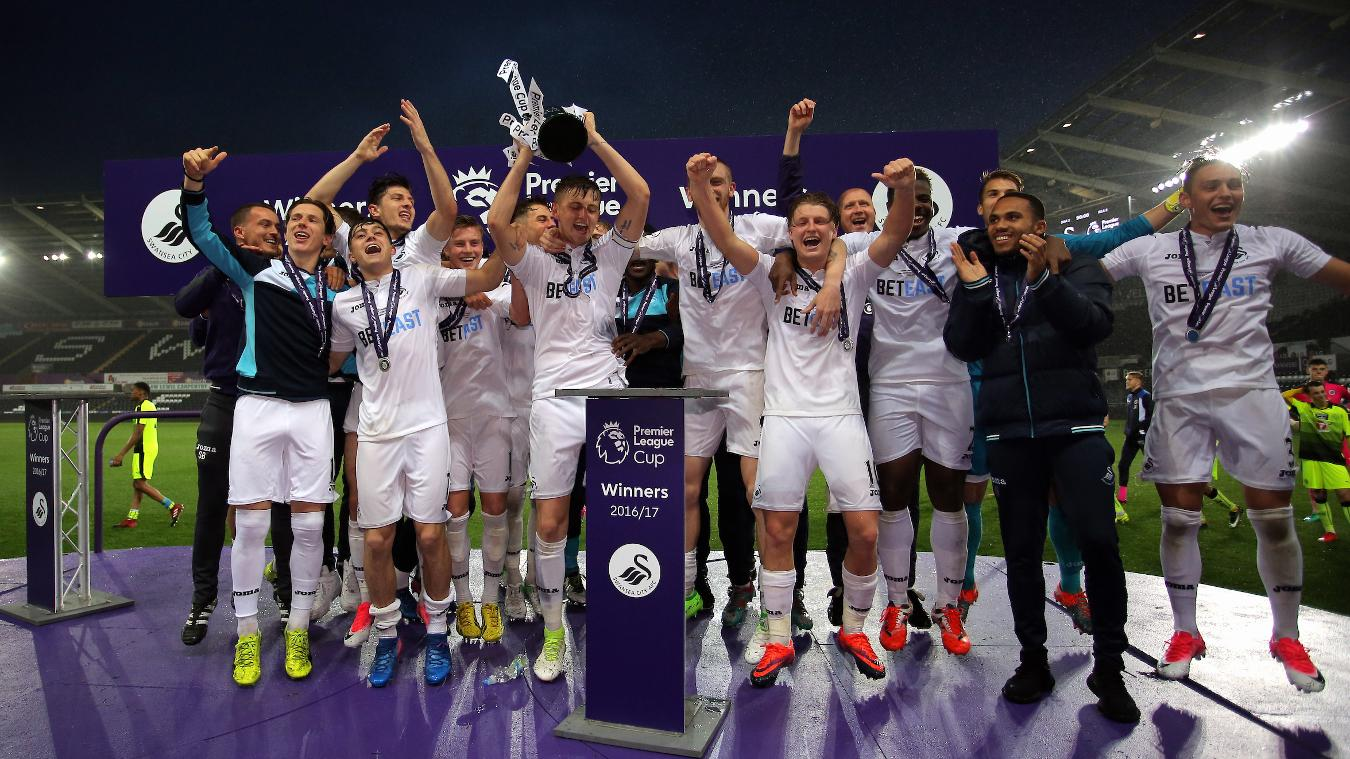 Swansea City lift Premier League Cup
