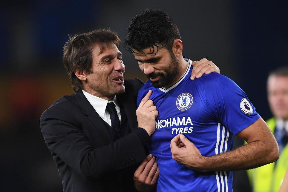 Antonio Conte and Diego Costa, Chelsea