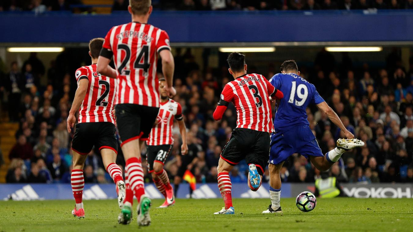 Chelsea's Diego Costa scores against Southampton