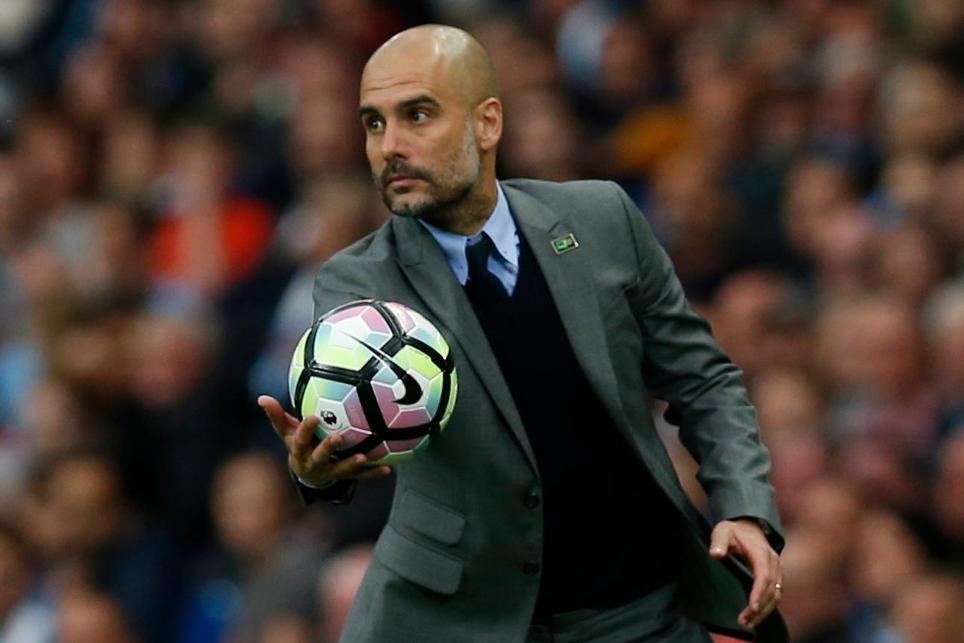 Manchester City head coach Pep Guardiola
