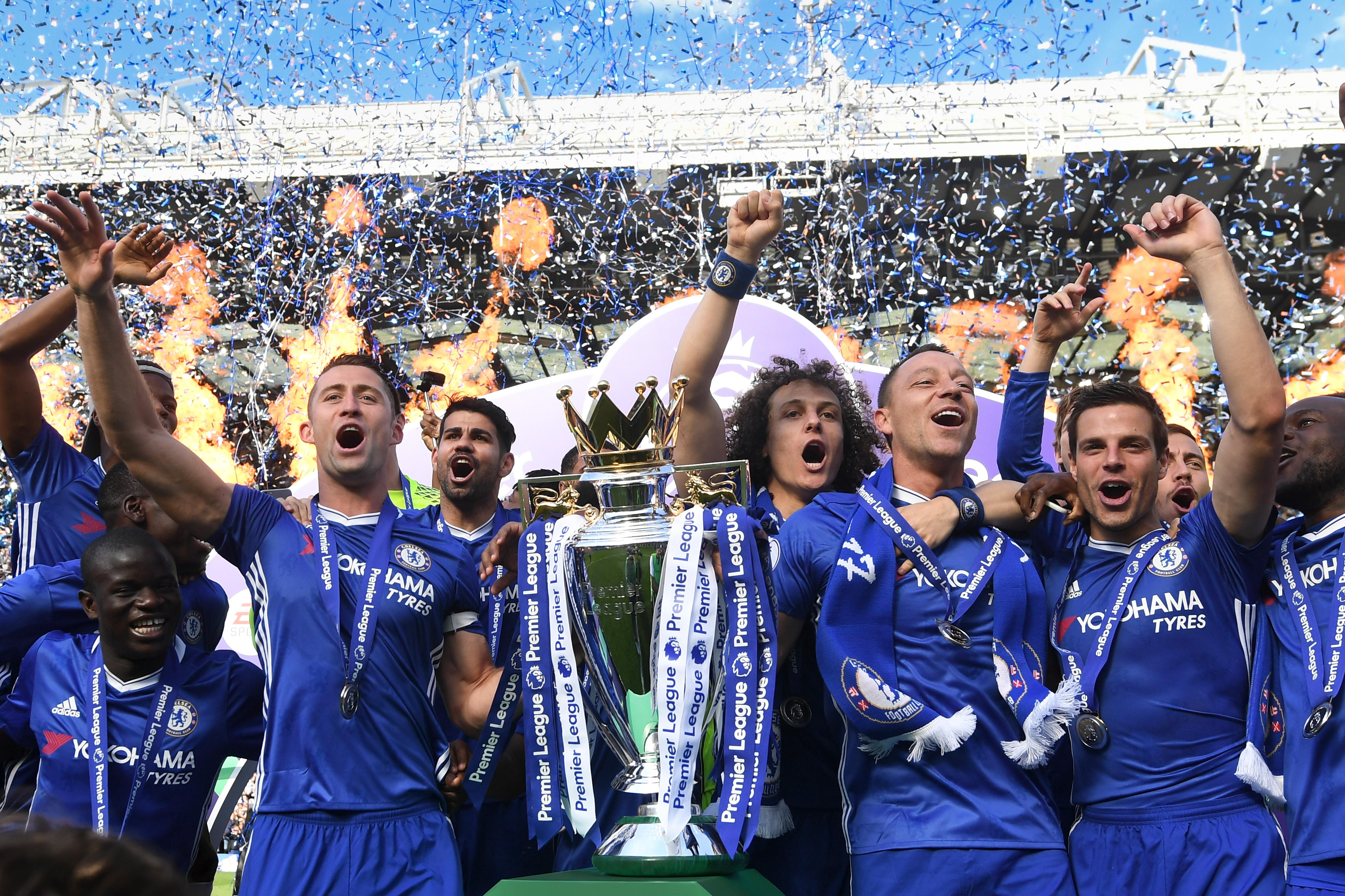 Chelsea celebrate title triumph