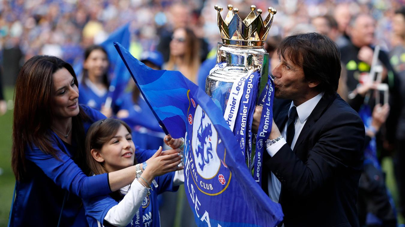 Chelsea celebrate Premier League title triumph