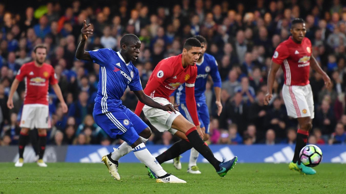 Chelsea v Manchester United - NGolo Kante scores
