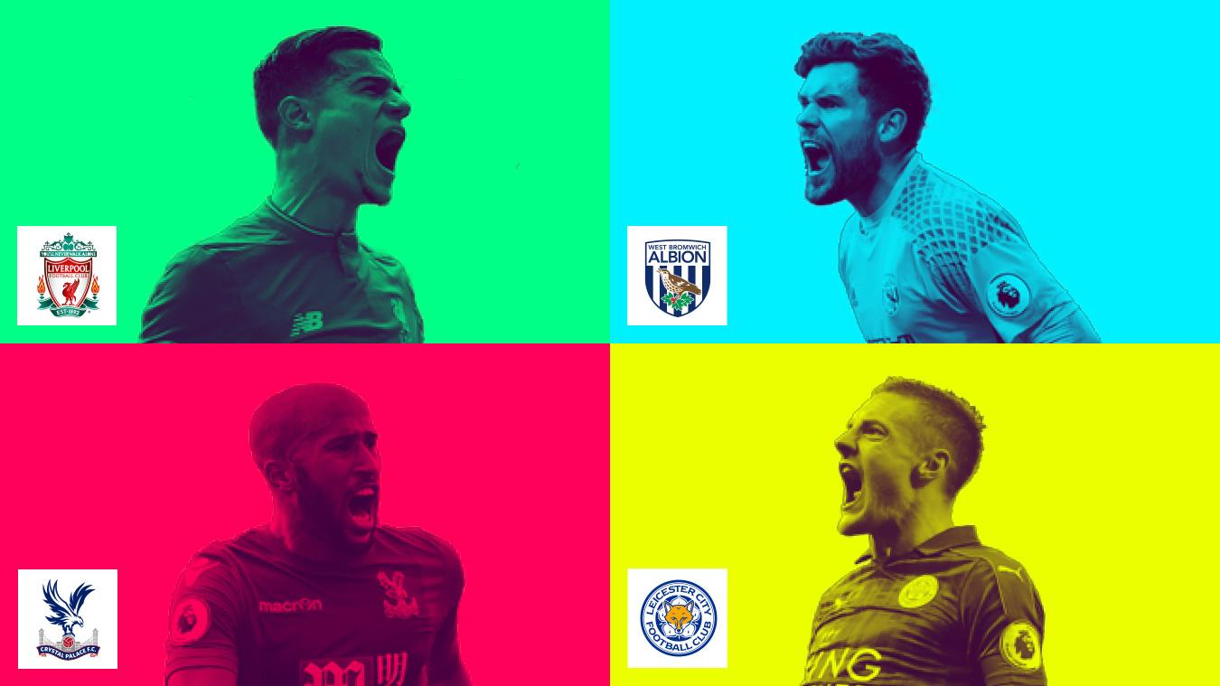 2017 Premier League Asia Trophy graphic of Philippe Coutinho, Ben Foster, Andros Townsend and Jamie Vardy