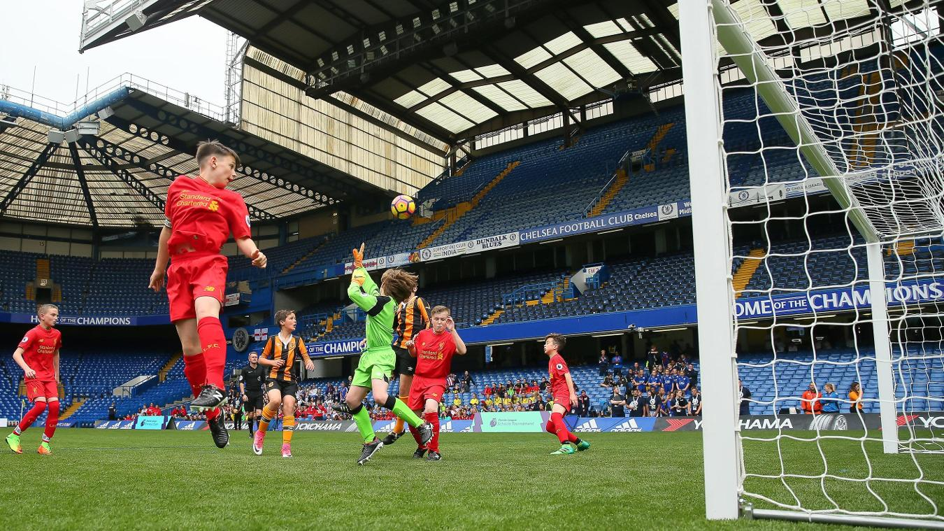 Premier League Schools Tournament 2017 action shot, Stamford Bridge