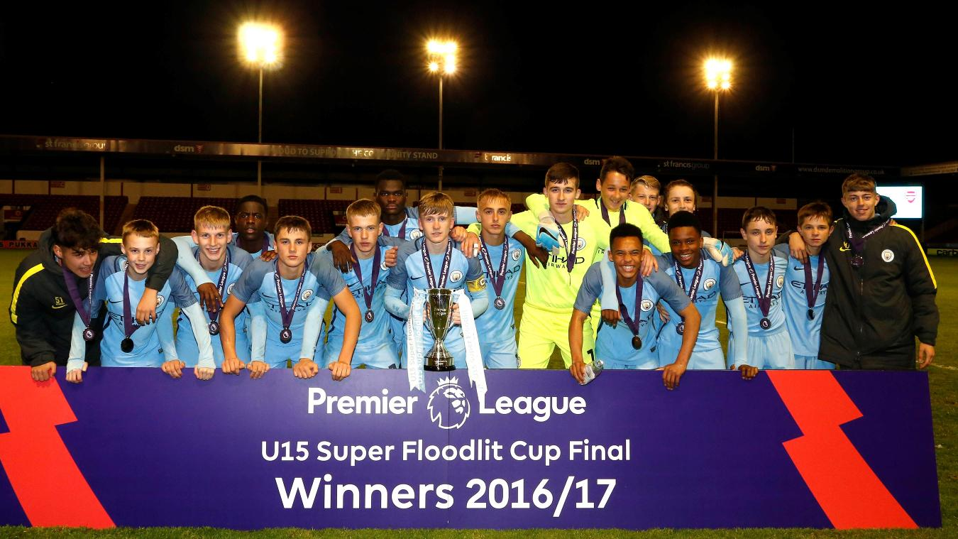 Manchester City win U15 Super Floodlit Cup final