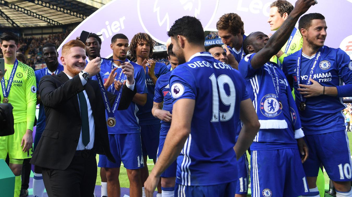 Tom Horrigan, PL Trophy presentation, Chelsea FC