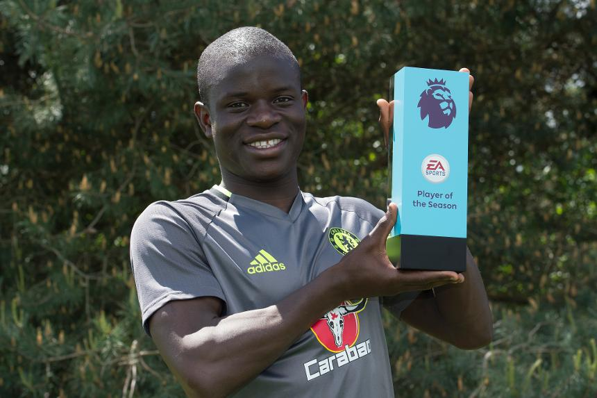 Chelsea's N'Golo Kante won EA SPORTS Player of the Season for 2016/17