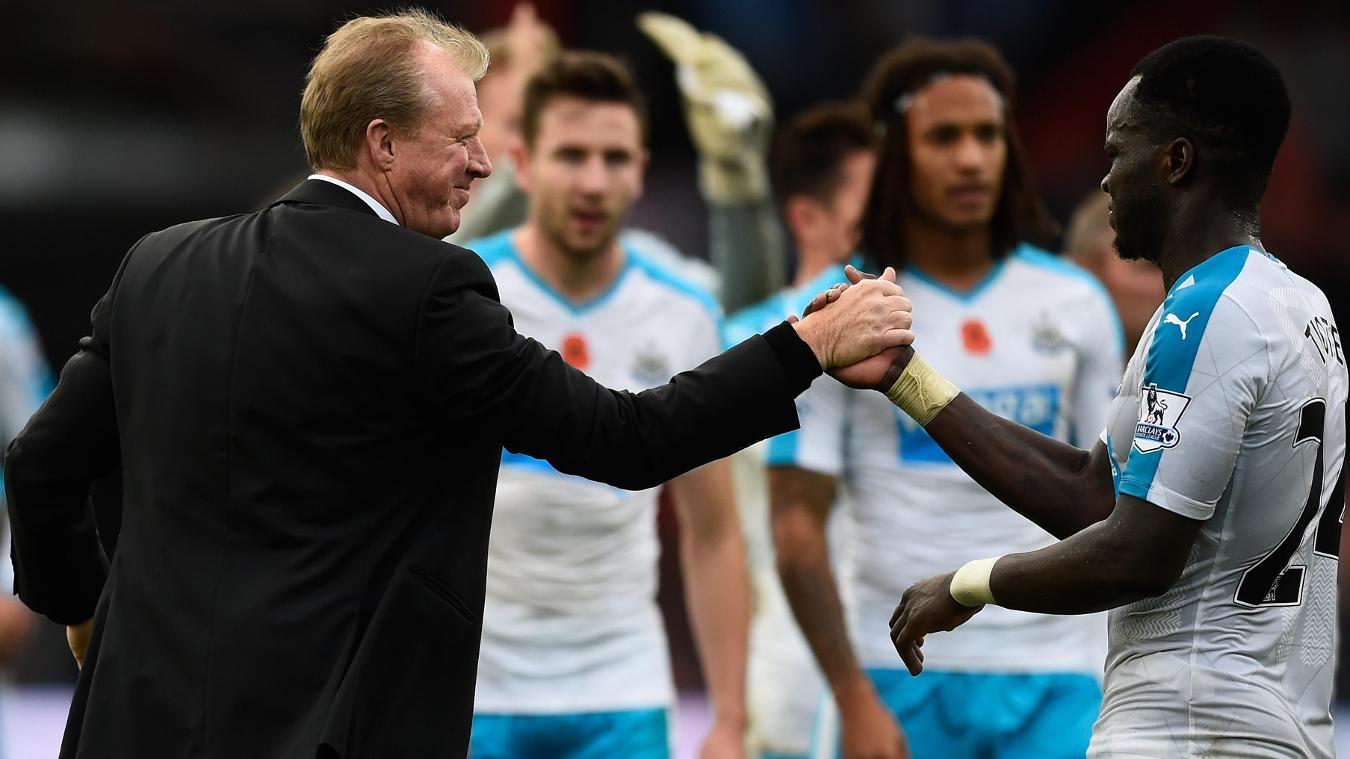 Cheick Tiote and Steve McClaren