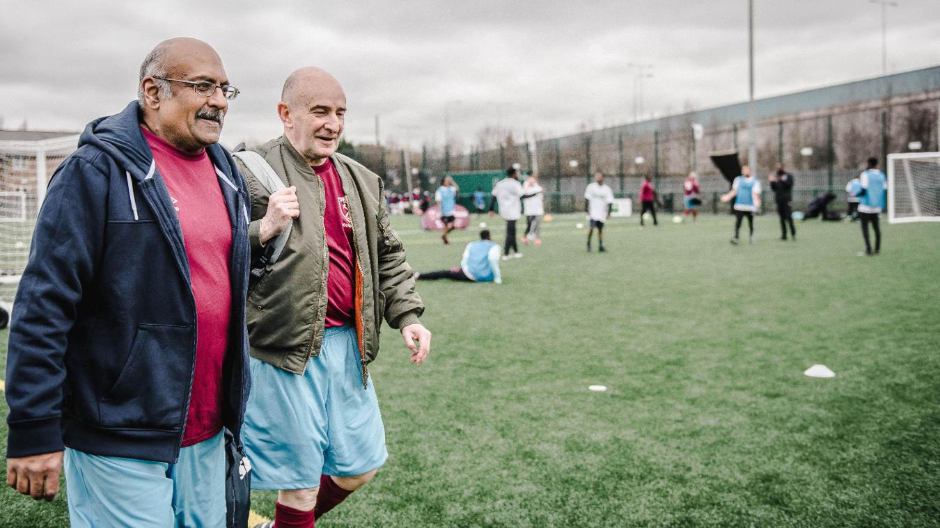 Walking football is just one of the many activities provided by the West Ham Foundation at their new state-of-the-art facility in Beckton, East London
