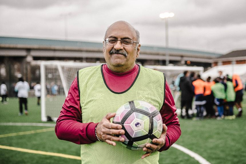 Chandra Bouri is adopting a healthy lifestyle thanks to the Newham Community Prescription (NCP) initiative backed by the West Ham United Foundation