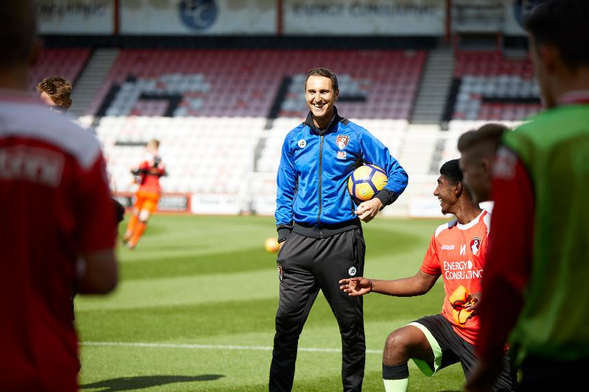 Graham Mills is enjoying life as AFC Bournemouth's Lead Youth Development Coach