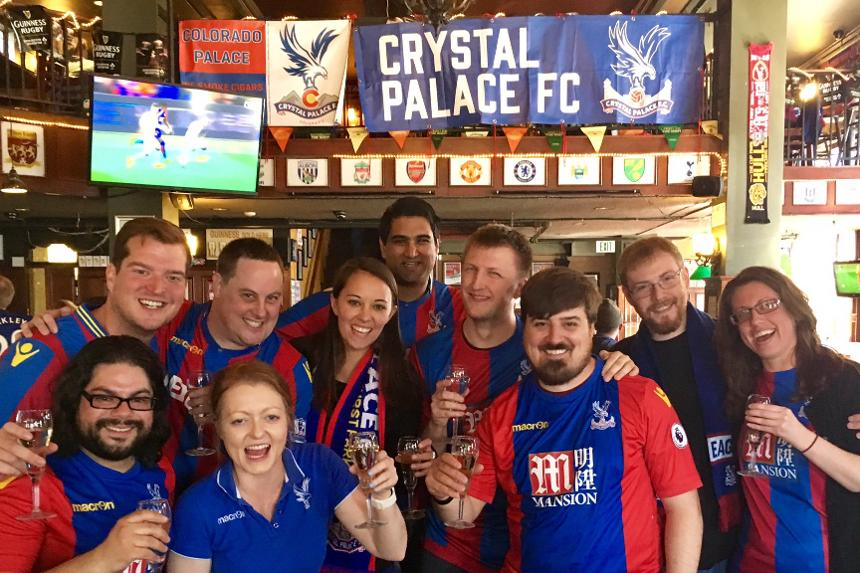 Crystal Palace fans meet up in Colorado, USA, to watch their team in Premier League action