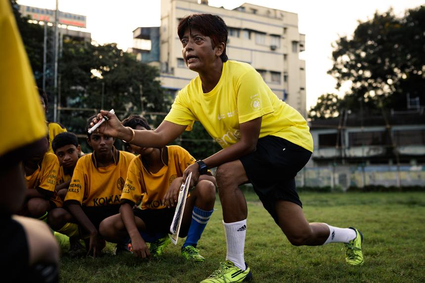 Kuntala is a Premier Skills coach in India who says she is 'married to football'