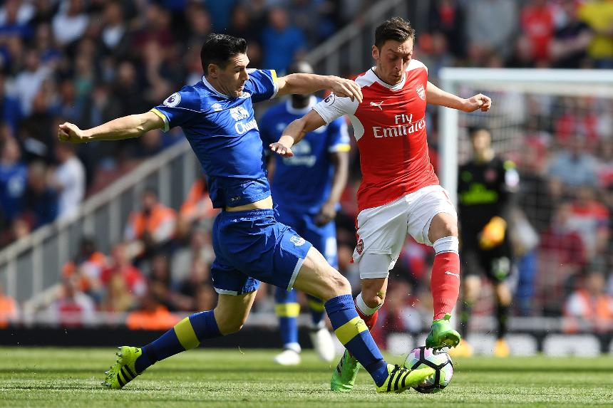 Gareth Barry, Everton, and Mesut Ozil, Arsenal