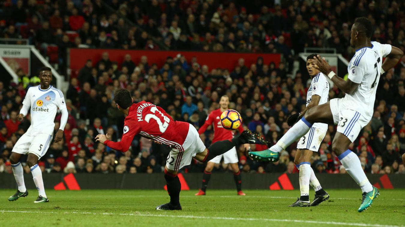Henrikh Mkhitaryan's inventive strike earned him the Carling Goal of the Month for December