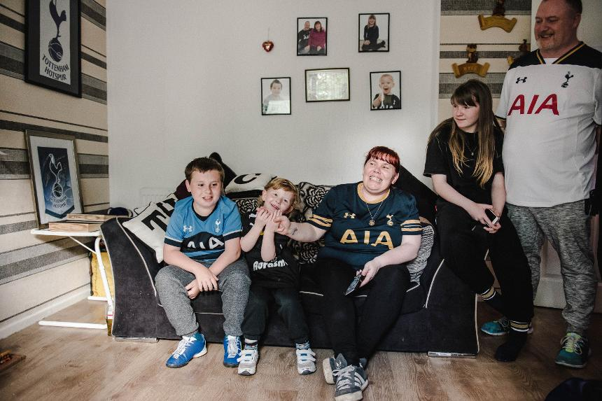 The Nottage family are still able to watch their beloved Spurs despite living in the North West